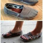 DIY Repurpose Your Toms Into Sandals