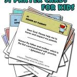 31 Prayer Cards for Kids   – Free Printable
