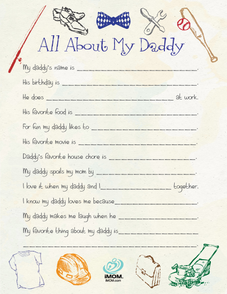Exhilarating image in all about my dad free printable
