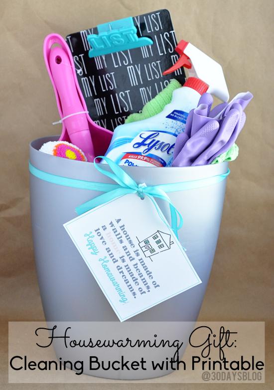 Housewarming Gift Idea Clean Bucket 24 7 Moms