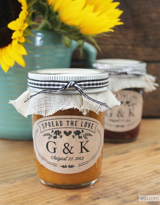 Free rustic jam jar favor label printables 187