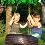 Day 55 – How To Make a Tire Swing {100 Days of Summer Fun}