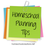 A Few Homeschool Planning Tips