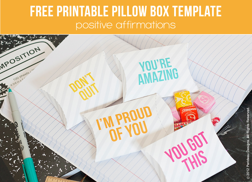 Free Pillow Box Template Printable 247 Moms