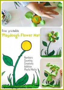 Free Playdough Flower Mat Printable 24 7 Moms