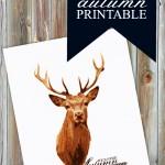 Free Deer Art Printable