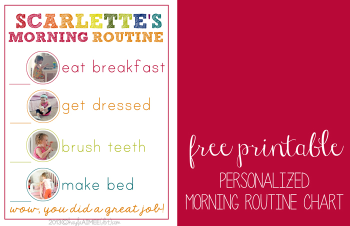 free personalized morning routine printable 24 7 moms