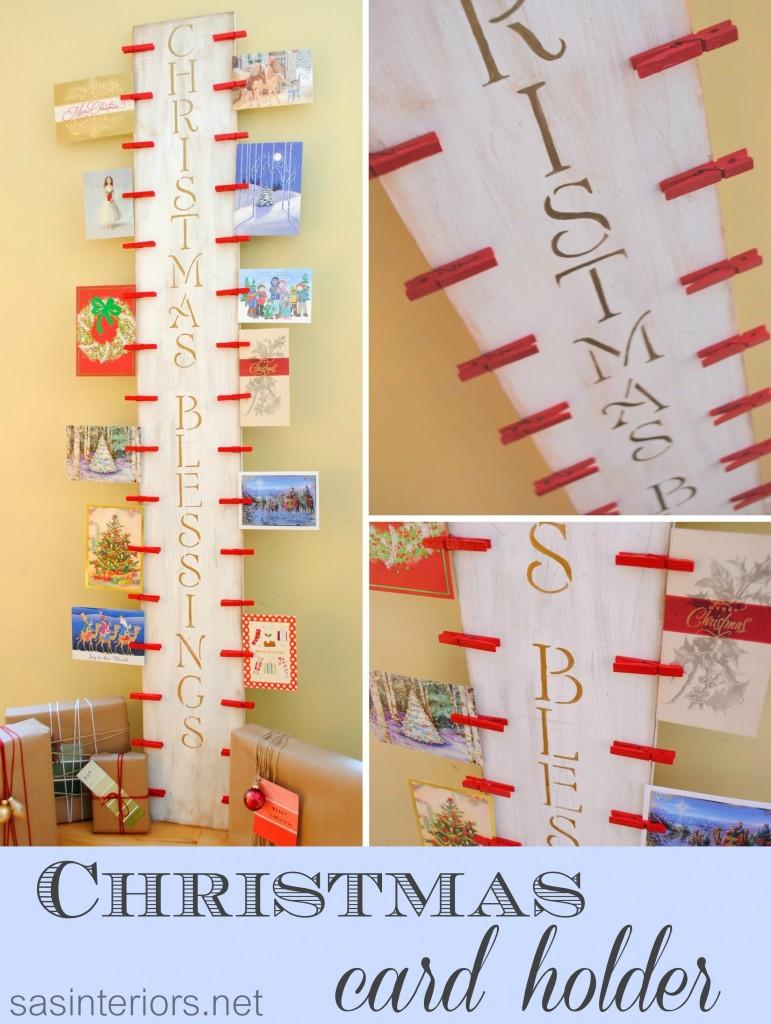 DIY Christmas Card Holder - 24/7 Moms