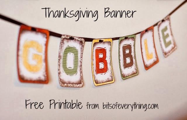 Free Thanksgiving Banner Printable - 24/7 Moms