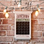 DEAL: Wooden Christmas Advent 50% off
