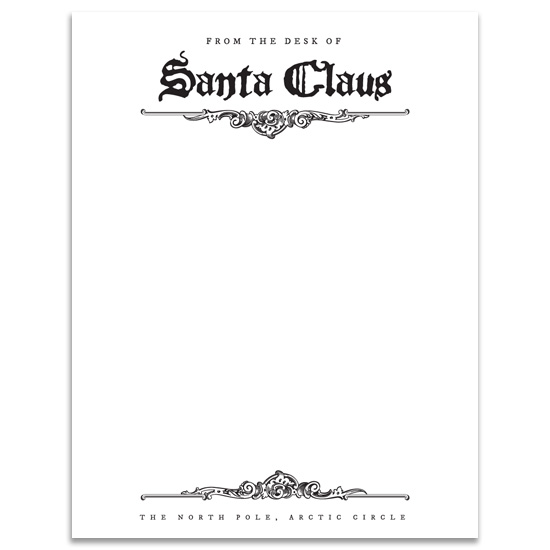return letter from santa business letter announce your on the shelf return with a letter from 378