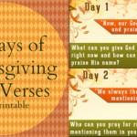 Family Fun Thanksgiving Bible Verse Countdown