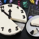 New Year's Eve delicious Black and White Cheesecake Clock!