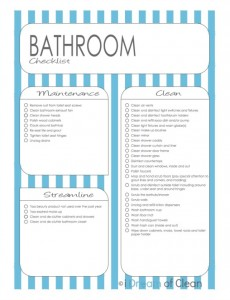 Delicieux Bathroom Cleaning Checklist