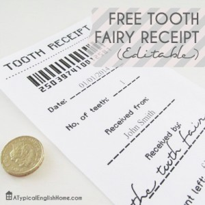 photograph regarding Free Printable Tooth Fairy Receipt known as Cost-free No cost Enamel Fairy Receipt Template Printable - 24/7 Mothers