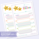 FREE New Year's Resolutions List Printable