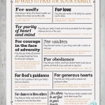10 Ways to Pray for Your Family in 2014 {Free Printable}