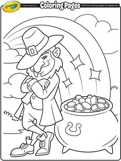 Free St. Patrick\'s Day Coloring Pages - 24/7 Moms