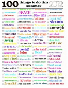 print out this 100 things to do this summer checklist and start marking off what you have done and get some ideas for some more fun days - Fun Things To Print