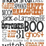 Free Halloween Subway Art Printable