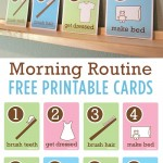 Free Kid's Morning Routine Printables