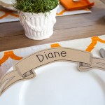 Free Paper Banner Dinner Plate Place Card