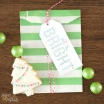Free All Is Bright Christmas Tag Printable