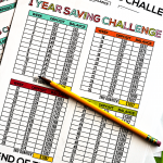 Free One Year Saving Challenge Printable