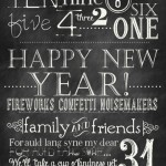 Free Chalkboard New Years Printables