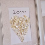 DIY Button Heart Art for Valentines Day