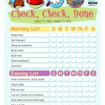 No More Did You's? With This Free Kids Check List Printable