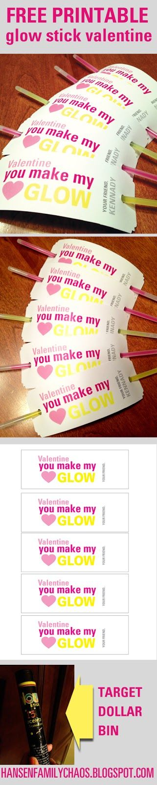 Non-Candy Valentine's Day Class Gift Ideas - Princess ... |Pinterest Glow Stick Valentines