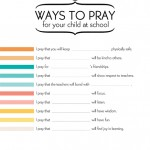 10 Ways to Pray for Your Child at School