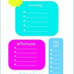 Free Kids Daily Planner Checklist Printable