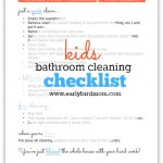 Free Kids Bathroom Cleaning Checklist Printable