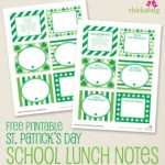Free St. Patrick's Day School Lunch Note Printables