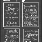 4 Free Printable Chalkboard Scriptures.
