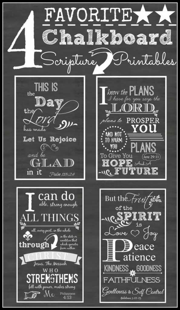 photo about Chalkboard Printable called 4 Free of charge Printable Chalkboard Scriptures. - 24/7 Mothers