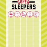 Free Super Sleeper Chart Printable