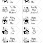 Free Fathers Day Retro Gift Tag Printables