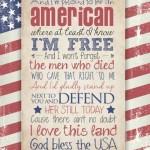 Free God Bless the USA Printable