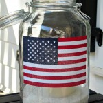 Mom Tip: American Flag Lantern Using Mason Jar