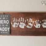 DIY Fathers Day Handprint Keepsake Gift