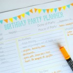 Free Birthday Party Planning Printable