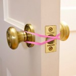 MOM Tip: Keep a Door Unlocked with a Rubber Band
