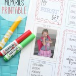 Free School Memory Page Printable