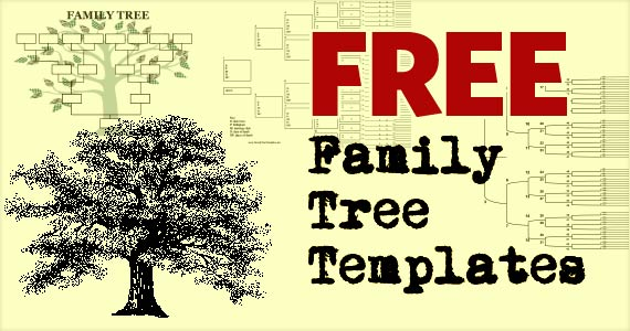 Family tree template to print.