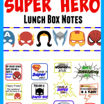 Free Super Hero Lunch Box Note Printables