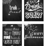 Free Halloween Chalkboard Art Printables