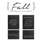 Free Fall Chalkboard Printables